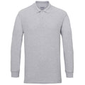 Red - Back - Gildan Mens Long Sleeve Double Pique Cotton Polo Shirt