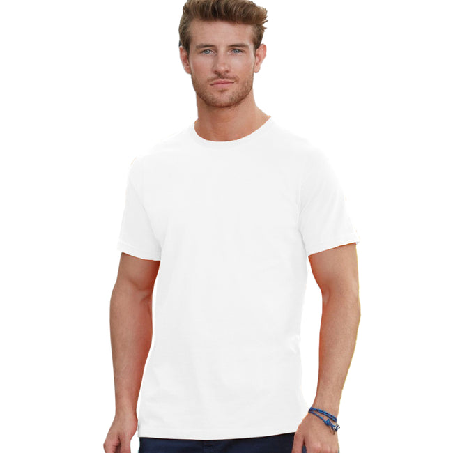 White - Back - Fruit Of The Loom Mens Heavy Weight Belcoro® Cotton Short Sleeve T-Shirt