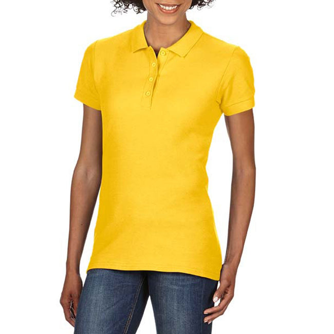 Daisy - Front - Gildan Softstyle Womens-Ladies Short Sleeve Double Pique Polo Shirt