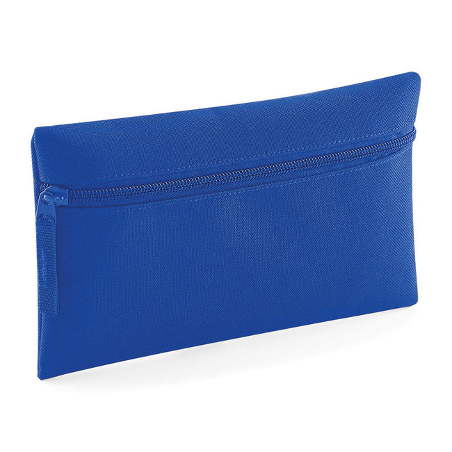 Burgundy - Front - Quadra Classic Zip Up Pencil Case