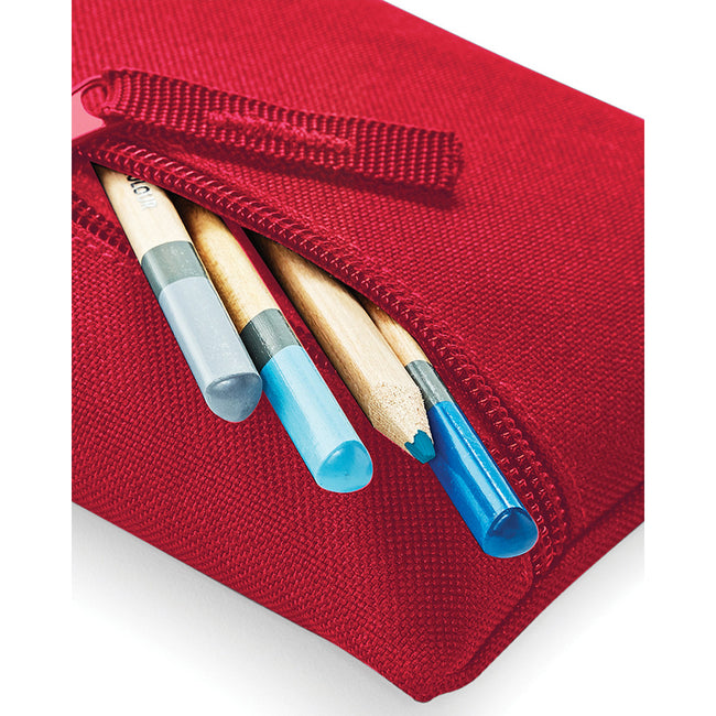 Purple - Front - Quadra Classic Zip Up Pencil Case