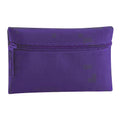 Purple - Back - Quadra Classic Zip Up Pencil Case