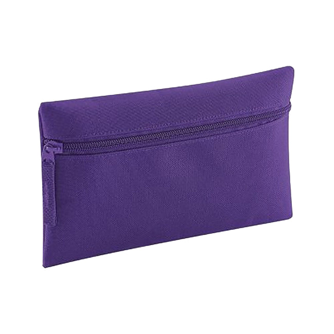 Purple - Side - Quadra Classic Zip Up Pencil Case