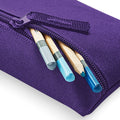 Black - Front - Quadra Classic Zip Up Pencil Case