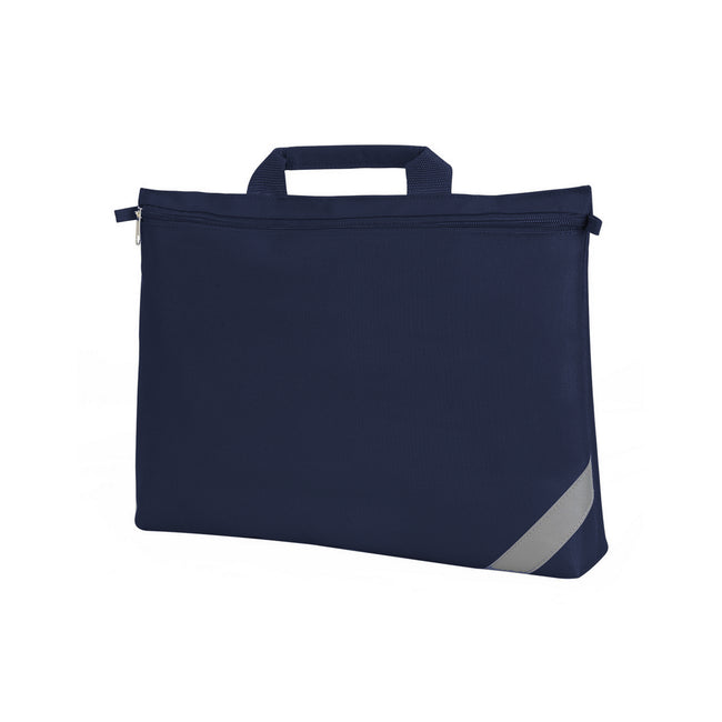 Navy Blue - Front - Shugon Oxford Classic Portfolio Book Bag