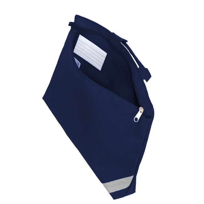 Navy Blue - Back - Shugon Oxford Classic Portfolio Book Bag