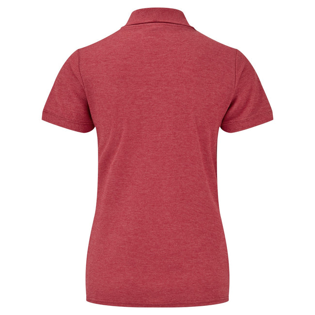Heather Red - Side - Fruit Of The Loom Womens Lady-Fit 65-35 Short Sleeve Polo Shirt