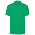Dark Heather - Front - Fruit Of The Loom Mens 65-35 Pique Short Sleeve Polo Shirt