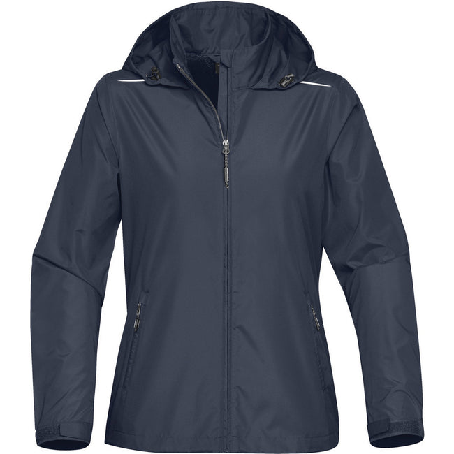 Navy Blue - Front - Stormtech Womens-Ladies Nautilus Performance Shell Jacket