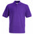 Purple - Front - Fruit Of The Loom Childrens-Kids Unisex 65-35 Pique Polo Shirt