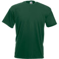 Dark Green - Front - Mens Value Short Sleeve Casual T-Shirt