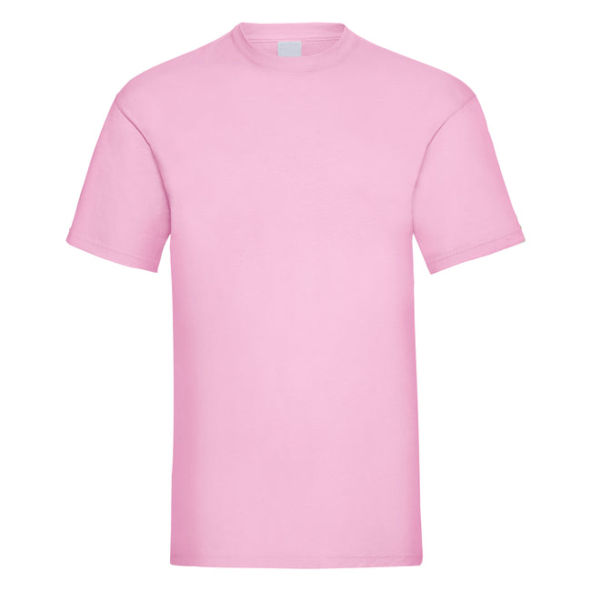 Pastel Pink - Front - Mens Value Short Sleeve Casual T-Shirt