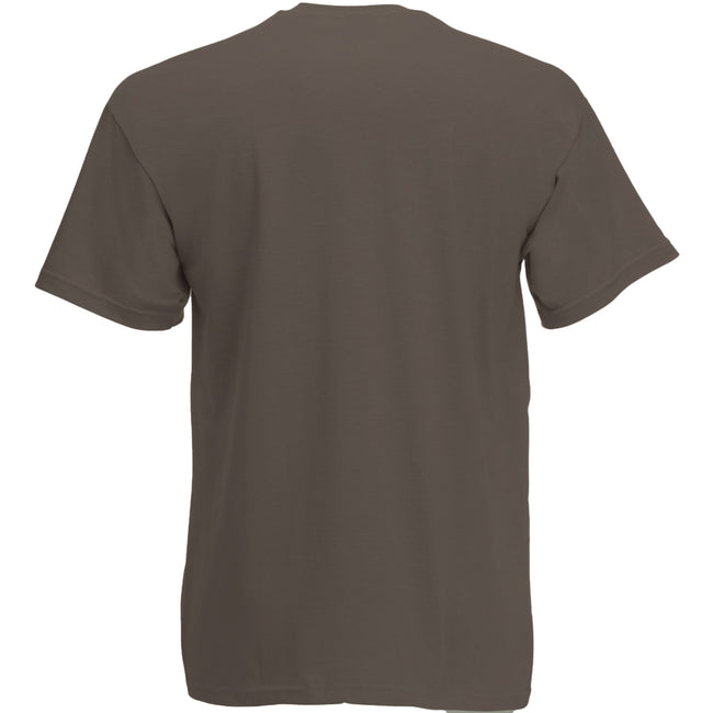Beige - Front - Mens Value Short Sleeve Casual T-Shirt