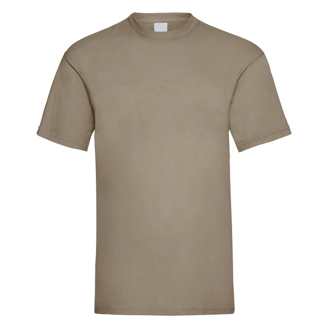 Sand - Front - Mens Value Short Sleeve Casual T-Shirt