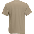 Sand - Back - Mens Value Short Sleeve Casual T-Shirt