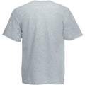 Grey Marl - Back - Mens Value Short Sleeve Casual T-Shirt