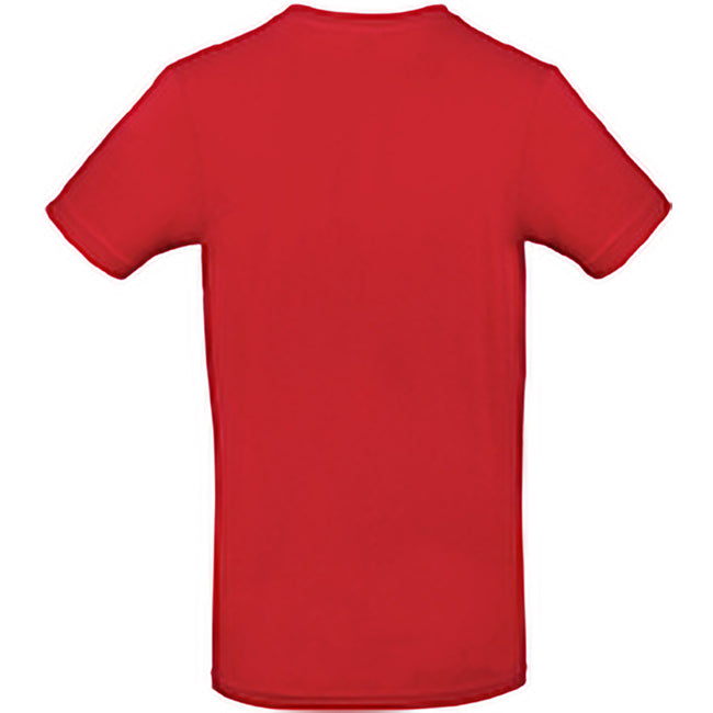 Red - Back - B&C Mens #E190 Tee