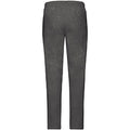 Dark Heather - Back - Fruit Of The Loom Mens Open Hem Jog Pants - Jogging Bottoms