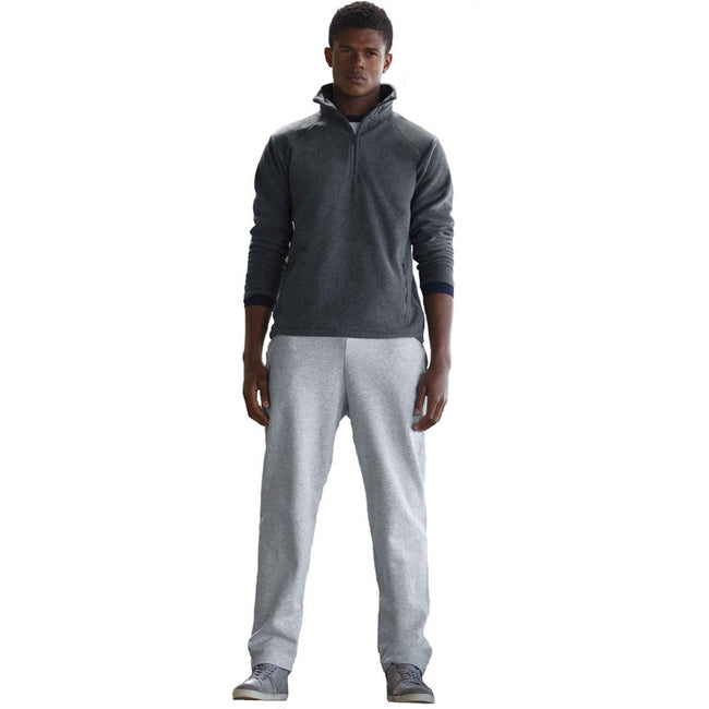 Black - Front - Fruit Of The Loom Mens Open Hem Jog Pants - Jogging Bottoms