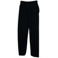 Heather Grey - Front - Fruit Of The Loom Mens Open Hem Jog Pants - Jogging Bottoms