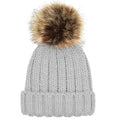 Light Grey - Back - Beechfield Junior Unisex PomPom Chunky Beanie