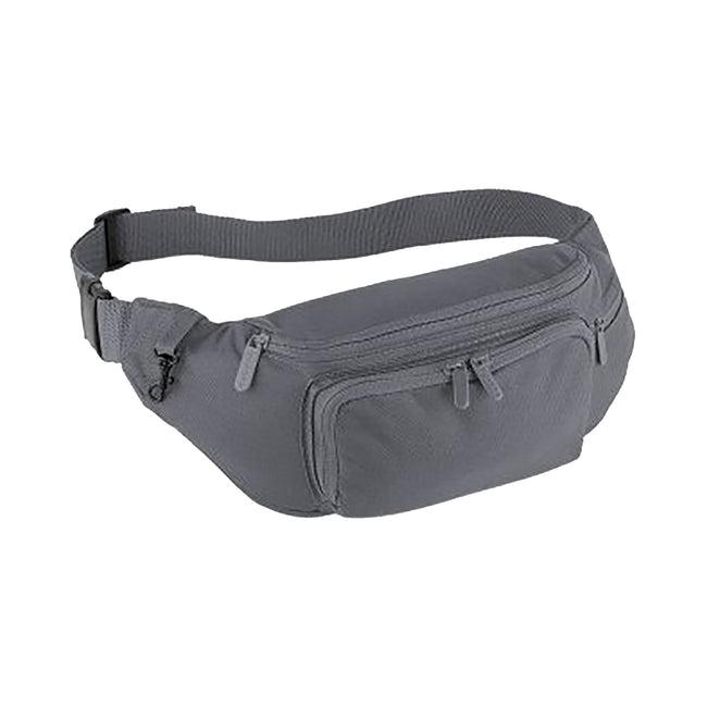 Graphite Grey - Front - Quadra Belt Bag - 2 Litres (Pack of 2)