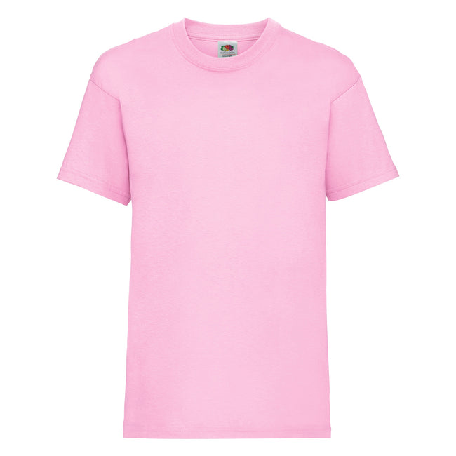 Light Pink - Front - Fruit Of The Loom Childrens-Kids Unisex Valueweight Short Sleeve T-Shirt (Pack of 2)