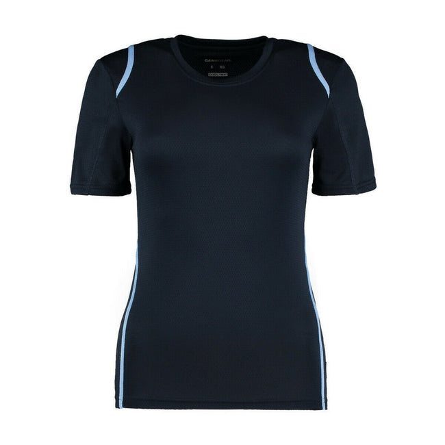 Navy-Light Blue - Front - Gamegear® Ladies Cooltex® Short Sleeved T-Shirt - Ladies Sportswear