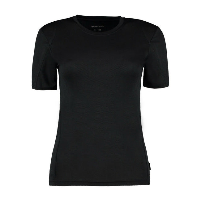Black - Front - Gamegear® Ladies Cooltex® Short Sleeved T-Shirt - Ladies Sportswear