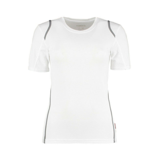 White-Grey - Front - Gamegear® Ladies Cooltex® Short Sleeved T-Shirt - Ladies Sportswear