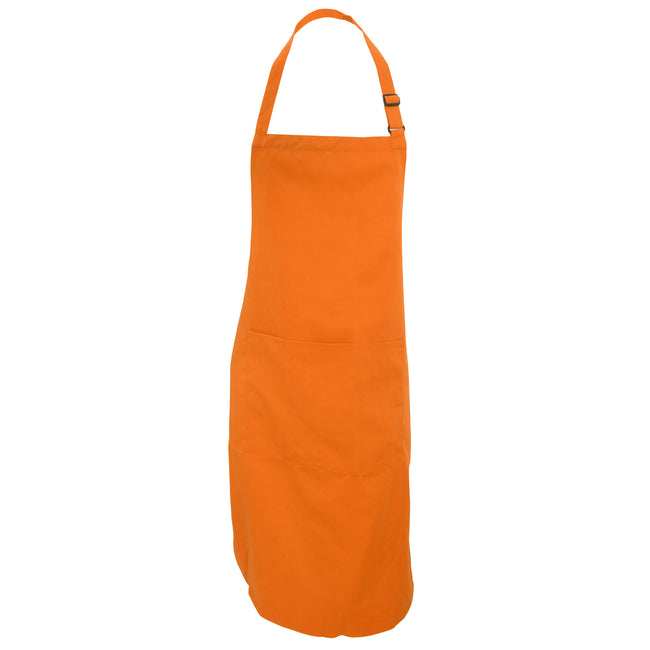 Orange - Front - Dennys Adults Unisex Catering Bib Apron With Pocket (Pack of 2)