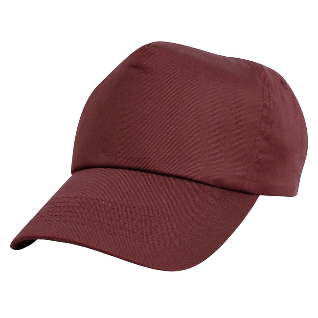 Kelly Green - Front - Result Unisex Childrens-Kids Plain Basebll Cap (Pack of 2)