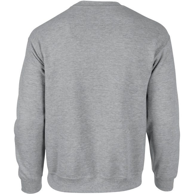 Ash - Front - Gildan DryBlend Adult Set-In Crew Neck Sweatshirt (13 Colours)