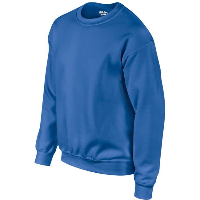 Royal - Side - Gildan DryBlend Adult Set-In Crew Neck Sweatshirt (13 Colours)