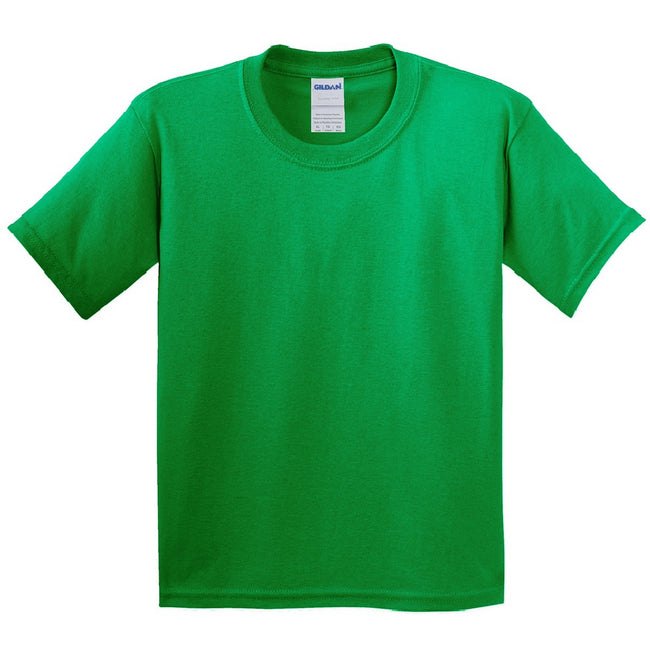 Irish Green - Side - Gildan Childrens Unisex Soft Style T-Shirt