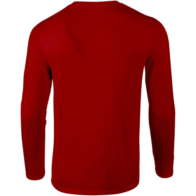 Red - Lifestyle - Gildan Mens Soft Style Long Sleeve T-Shirt