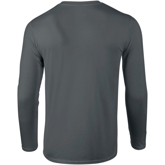 Charcoal - Lifestyle - Gildan Mens Soft Style Long Sleeve T-Shirt