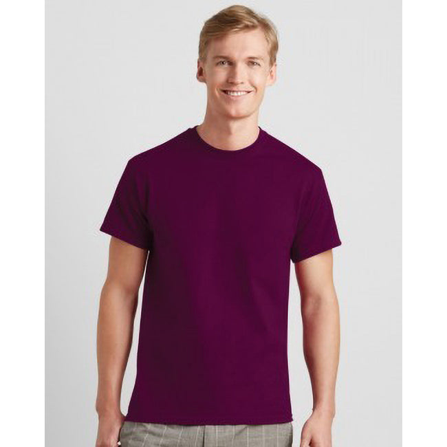 Burgundy - Side - Jerzees Colours Mens Classic Short Sleeve T-Shirt