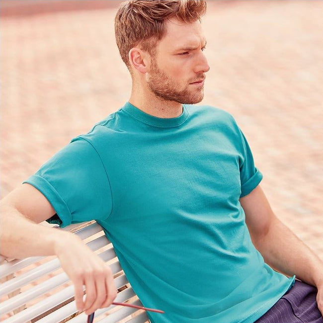 Winter Emerald - Side - Jerzees Colours Mens Classic Short Sleeve T-Shirt