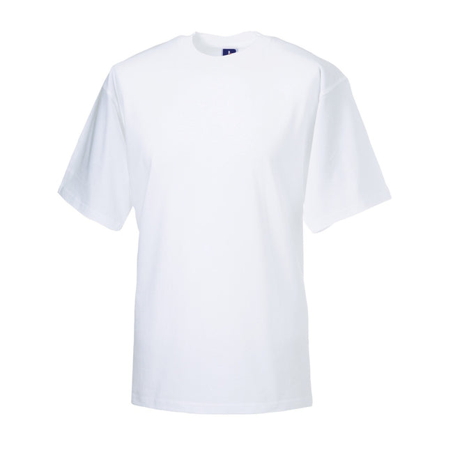 White - Front - Jerzees Colours Mens Classic Short Sleeve T-Shirt