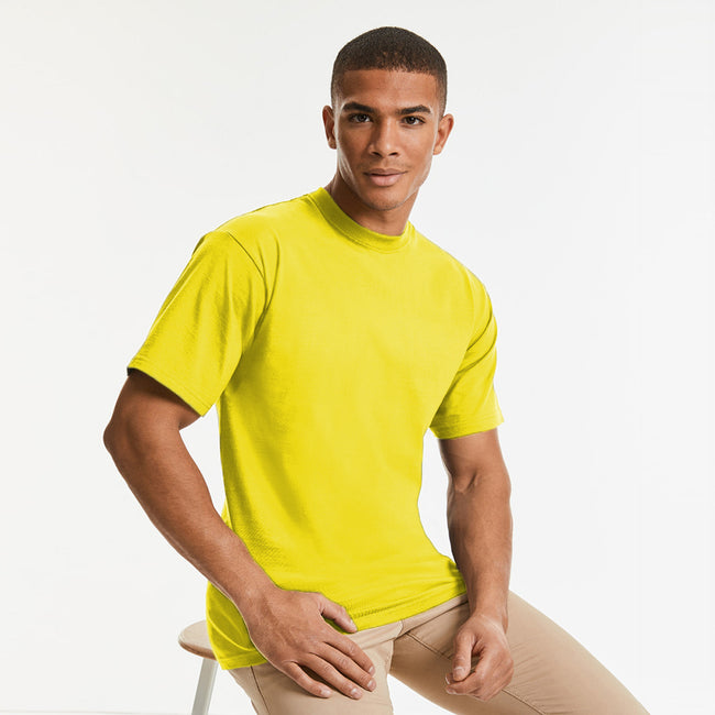 Yellow - Back - Jerzees Colours Mens Classic Short Sleeve T-Shirt