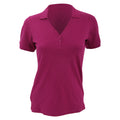 Raspberry - Front - Kustom Kit Ladies Sophia Comfortec® V-Neck Short Sleeve Polo Shirt