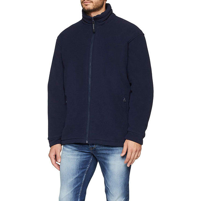 Dark Navy - Back - Regatta Mens Asgard II Quilted Fleece Jacket (Thermo-guard Insulation)