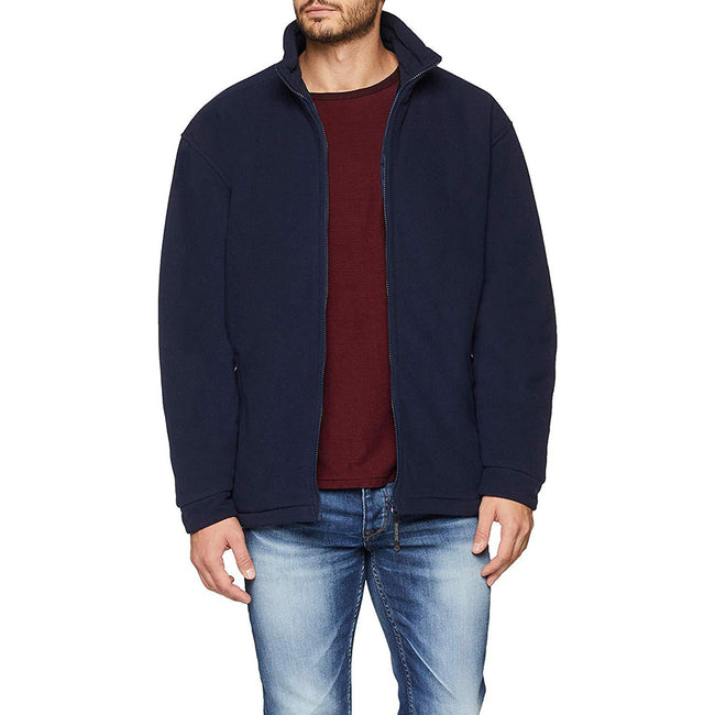 Dark Navy - Pack Shot - Regatta Mens Asgard II Quilted Fleece Jacket (Thermo-guard Insulation)
