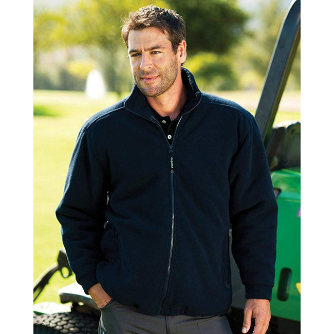Dark Navy - Close up - Regatta Mens Asgard II Quilted Fleece Jacket (Thermo-guard Insulation)