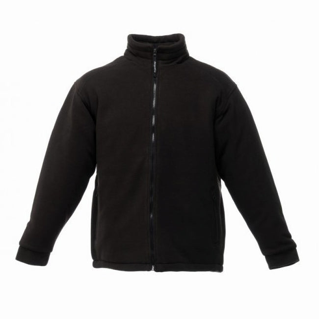 Black - Front - Regatta Mens Asgard II Quilted Fleece Jacket (Thermo-guard Insulation)