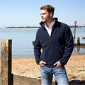 Navy Blue - Back - Result Mens High Grade Microfleece Horizon Showerproof Breathable Jacket