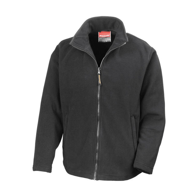 Black - Front - Result Mens High Grade Microfleece Horizon Showerproof Breathable Jacket