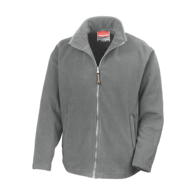 Light Grey - Front - Result Mens High Grade Microfleece Horizon Showerproof Breathable Jacket