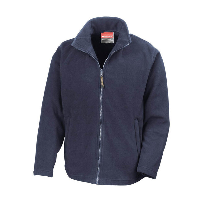 Navy Blue - Front - Result Mens High Grade Microfleece Horizon Showerproof Breathable Jacket